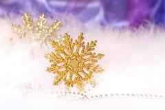 Schneeflockehintergrund des neuen Jahres oder des Weihnachten Stockfotos