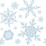 Schneeflockemuster Lizenzfreies Stockfoto