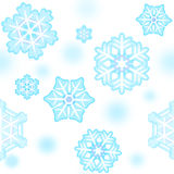 Schneeflockemuster des neuen Jahres nahtlos Stockbild