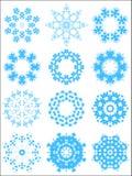 Schneeflockemusterset Stockbilder