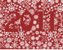 Schneeflocken 2011 Stockbild