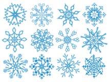 Schneeflocken. Stockfotografie