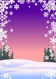 Schneeflocken lizenzfreie abbildung