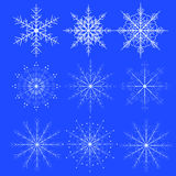 Schneeflocken Stockbild