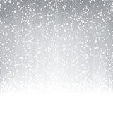 Schneeflocken auf farbigem Hintergrund vektor abbildung