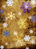 Schneeflocken auf grungy Hintergrund Stockbild