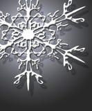 Schneeflocken auf Silber Lizenzfreie Stockbilder