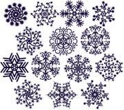 Schneeflocken auf Weiß (V1) Stockfotografie