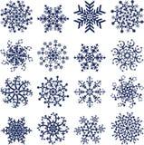 Schneeflocken auf Weiß, Vektor Lizenzfreie Stockfotografie