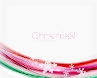 Schneeflocken auf Welle zeichnen, Weihnachts- und des neuen Jahreshintergrund Lizenzfreie Stockfotografie
