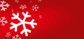 Schneeflocken BG Stockbild