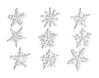 Schneeflocken 3D lokalisiert Stockbild