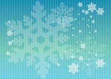 Schneeflocken in den Zeilen Stockbild