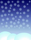Schneeflocken, die unten fallen lizenzfreie stockbilder