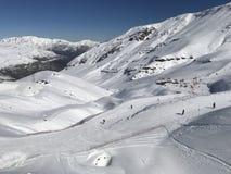 Schneeflocken an einem Skiort in Santiago, Chile Lizenzfreie Stockfotos