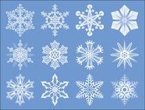 Schneeflocken eingestellt Stockfotos
