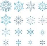 Schneeflocken eingestellt Stockbilder