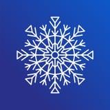 Schneeflocken-einzelne Ikone auf blauer Vektor-Illustration Stockbilder
