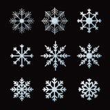 Schneeflocken für Auslegunggestaltungsarbeit Stockfotos