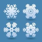 Schneeflocken für Auslegunggestaltungsarbeit Stockbild