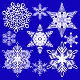 Schneeflocken für Auslegunggestaltungsarbeit Stockfoto