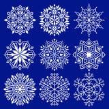 Schneeflocken für Auslegunggestaltungsarbeit Lizenzfreie Stockbilder