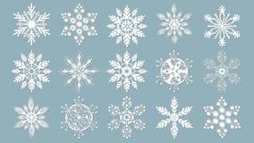 Schneeflocken für Auslegunggestaltungsarbeit Laser schnitt Muster für Weihnachtspapierkarten, die Gestaltungselemente und scrapbo lizenzfreie abbildung