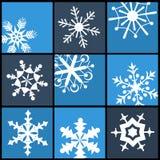 Schneeflocken-flache Ikonen für Netz und Mobile Lizenzfreies Stockfoto
