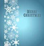 Schneeflocken-frohe Weihnacht-Karte Stockbild