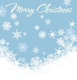 Schneeflocken-frohe Weihnacht-Karte Lizenzfreies Stockbild