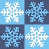 Schneeflocken, Hintergrund Stockfoto