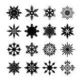 Schneeflocken-Ikone Stockfotos