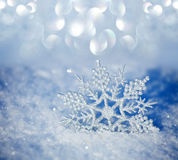 Schneeflocken im Winter Stockfoto