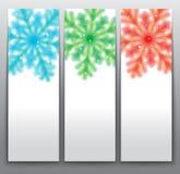Schneeflocken-Karten Lizenzfreie Stockfotos