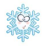 Schneeflocken-kopf- Grinsen lizenzfreie abbildung