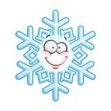 Schneeflocken-kopf- smiley lizenzfreie abbildung