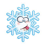Schneeflocken-kopf- Zunge lizenzfreie abbildung