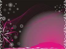 Schneeflocken. Kreativ. Weihnachtshintergrund vektor abbildung