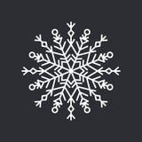 Schneeflocken-Kristall auf schwarzer Vektor-Illustration Lizenzfreies Stockbild