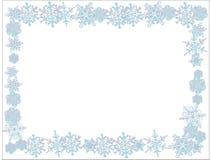 Schneeflocken mit weißem Hintergrund Einfacher Hintergrund stock abbildung