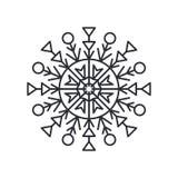 Schneeflocken-Schattenbild-farblose Vektor-Illustration Lizenzfreie Stockfotografie