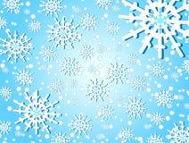 Schneeflocken u. Weihnachten Vektor Abbildung
