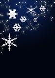 Schneeflocken und Sterne Stockfotografie
