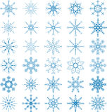Schneeflocken-Vektor-Satz Lizenzfreies Stockbild