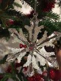 Schneeflocken-Weihnachtsdekorationsdetail Stockbild