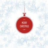 Schneeflocken-Weihnachtsfeiertags-Vektor-Hintergrund Stockfotografie