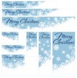 Schneeflocken-Weihnachtsnetz-Fahnen Lizenzfreie Stockfotos