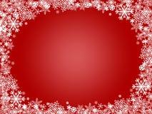 Schneeflocken-Weihnachtsrot-Hintergrund Lizenzfreies Stockfoto