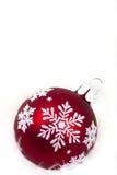Schneeflocken-Weihnachtsverzierung Stockfotografie
