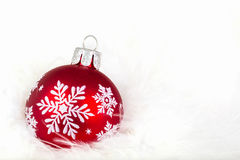 Schneeflocken-Weihnachtsverzierung Lizenzfreie Stockfotos